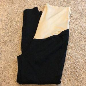 Loft maternity black leggings